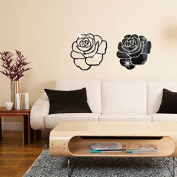 RUGAI-UE Mirror wall stickers stickers stickers DIY 3D crystal acrylic mirror Home Furnishing decorative stereo,black