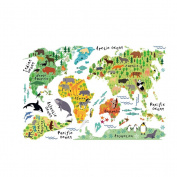 World Map Wall Decal Baby Buy Online From Fishpondconz - Kids world map wall decal