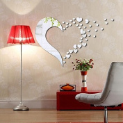 generic 1 PC Mirrors Shapes Abstract Wall Stickers Crystal Wall Stickers Mirror Wall Stickers Decorative Wall StickersVinyl Material Home Decoration,White