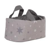Funny Baby 608170 Basket – Layette 30 x 30 x 18 cm, design Stars, Grey