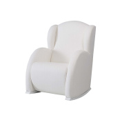 Micuna Flower – minimecedora with Upholstered Leatherette, White