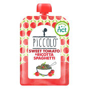 Piccolo Stage 2 Sweet Tomato and Ricotta Spaghetti Puree, 130 g, Pack of 7