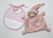 Doudou Bear with bavaglia in Aida Colour Pink