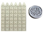 MNYR New 6pcs Silver Wax Sticks with Wicks for Decorative Wedding Invitations Wax Seal Sealing Stamp Gift Cards Sealing Wax