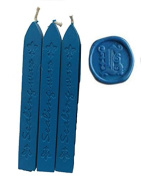 MNYR New 3pcs Blue Wax Sticks with Wicks for Decorative Wedding Invitations Wax Seal Sealing Stamp Gift Cards Sealing Wax