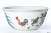 Sunnyhill Chinese Porcelain Royal Style Retro Colour Glaze Chicken Cup
