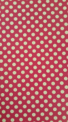 30cm x 38cm Polka Dot Print HTV vinyl for heat transfer , the colours are much brighter than the picture shows
