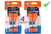 Elmer's bundle 2 pk of 6 gramme Disappearing Purple Elmer's School Glue Stick, total of 4 sticks