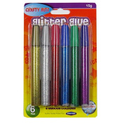 Glitter Glues - 6 Colour Pack, By Crafty Bitz