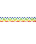 Rainbow Chevron Washi Tape (1 Roll - 1.4cm wide x 10.95 yards long) - Zig Zag Rainbow Coloured Adhesive Tape, Circus Party Supplies, Removable Tape, Birthday Gift Wrap Tape