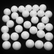 Dandan DIY 100pcs Smooth Foam Round Shaped Foam Craft Making Foam Ball Home Wedding Decor Diy Supply