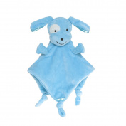 Wingingkids Baby Comforters Security Blanket for Baby Soft Blanket Toys Blue Puppy
