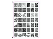 Deesos Nail Art Stainless Steel Polish Image Stamp Stamping Plates Template Manicure Decorazione XY14