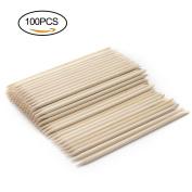 Mobengo 100pcs Multi-functional Nail Art Polish Wood Sticks Cuticle tools Pusher Removers