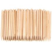 Gemini_mall® 100pcs Nail Art Design Orange Wood Stick Cuticle Pusher Remover Manicure Care