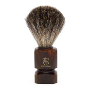 Shaving Brush Royal VP - with genuine, pure badger hair - synthetic resin handle brown