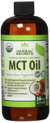 Herbal Secret 100% Pure MCT Oil, 470ml - Helps in Weight Management * Maintain Lean Muscle Tissue*