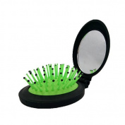 Soft Hair Brush - Folding Travel Hair Bush and Comb With Mirrro, Mini Pocet Hair Brush Hair Comb For Women Gift Idea