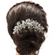 SEPBRIDALS Rhinestone Crystals Leaves Bride Wedding Hair Comb Hairpins Hair Accessories Jewellery Hair Clips XBY688