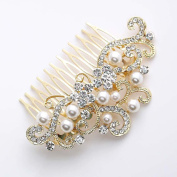 FXmimior Bridal Women Vintage Wedding Party Crystal Rhinestone Vintage Hair Comb Hair Accessories