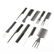 PU Health 10 Piece Professional Salon Hair Styling Hairdressing Barbers Comb Set