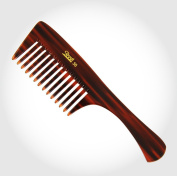 Brown Wide Teeth Comb for Wavy/ Curly/ Thick/ Long Hair and Shampoo Use unisex hair care comb for home