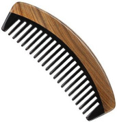 Myhsmooth Gb-by-mt Handmade Premium Quality Natural Green Sandalwood Wide Tooth Comb with Natural Wood Aromatic Smell