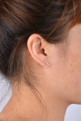 Leiothrix Minimalist All-match Golden Square Copper Earrings for Women and Girls Apply to Party and Casual