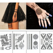 Black Henna Body Paints Temporary Tattoo Stickers Designs for Women Girls