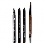 UCANBE Pro Eye Liner/ Brow Makeup -1pcs Liquid Eyeliner +2pcs Kohl Gel Eye Liner Pencil + 1pcs Eyebrow Pencil with Brow Brush – Long Wear and Water-Proof Cosmetic Set