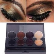 Music Flower Waterproof Eyeshadow Cream Smoked Eye Shadow Gel Eye liner Gel Makeup Set With Brush