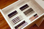 Alex 6 Acrylic Eyeliner Mascara Drawer Organiser for the Ikea Alex Divider Tray Clear by Sonny Cosmetics
