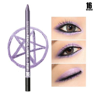 [16Brand] 16 Pencil Liner 0.5g / #PG01 Purple (No Smudging Waterproof Eyeliner)