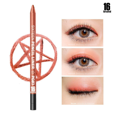 [16Brand] 16 Pencil Liner 0.5g / #PG03 Orange (No Smudging Waterproof Eyeliner)