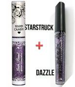 2 Hard Candy Glitter Mascara STARSTRUCK & Walk the Line eyeliner DAZZLE purple