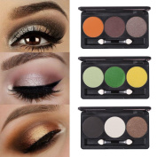 3 Colour Multi Eyeshadow Palette Professional Highly Pigmented Makeup Eye Shadow Palette ,Matte+Shimmer + Diamond