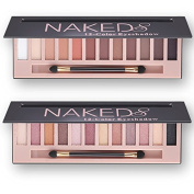 2 pcs 12 Colour Naked Palette Eyeshadow Makeup Waterproof Glitter Shimmer Make Up Colours Naked Pigments Professional Eyeshadow Palette