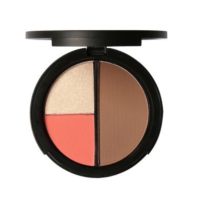 Shouhengda Bronzers Highlighters Powder Makeup Blusher Highlighter Palette Contour A02