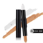 Highlight and Contour Stick, Molie Professional Highlight Face Eye Double-ended Conealer Pen Makeup Stick