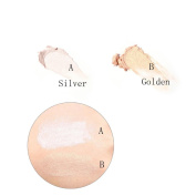 Leoy88 Highlight Powder Stick Gold Shade and Silver Face Makeup