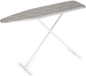 Homz T-Leg Steel Top Ironing Board with Foam Pad, Butterfly Floral Cover