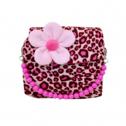 LA HAUTE Little Girls Handbags Lovely Tote Bags Cute Mini Crossbody Bags,Pink Leopard