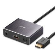UGREEN HDMI to HDMI Adapter with 3.5mm Audio and Optical Toslink Audio Output for Home Theatre Application