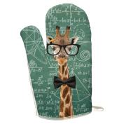 Giraffe Math Geek Formulas All Over Oven Mitt Multi Standard One Size
