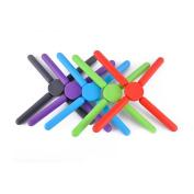 5 Pack Foldable Silicone Trivets Pot Coaster Mat Holder