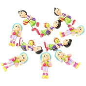 Pack/10pcs 1:30 G Scale DIY Sports Kids Model Figures People Accessory Gifts