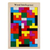 TOYMYTOY Wooden Tetris Puzzle Relieve Stress Puzzle Brain Games Educational Toys Games