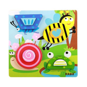 Children Wooden Puzzle Toys Insects Jigsaw Baby Toddler Educational Toy