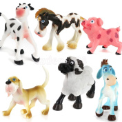 6pcs Farm Yard Animal Model Figures Pig Dog Cow Sheep Horse Kids Toy Gift