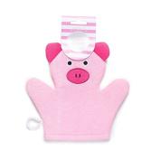 Pink Piggy Bath Mitt Sponge